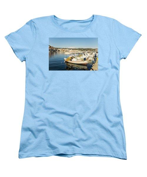 Gytheion Harbour Women's T-Shirt (Standard Cut) by Mike Santis
