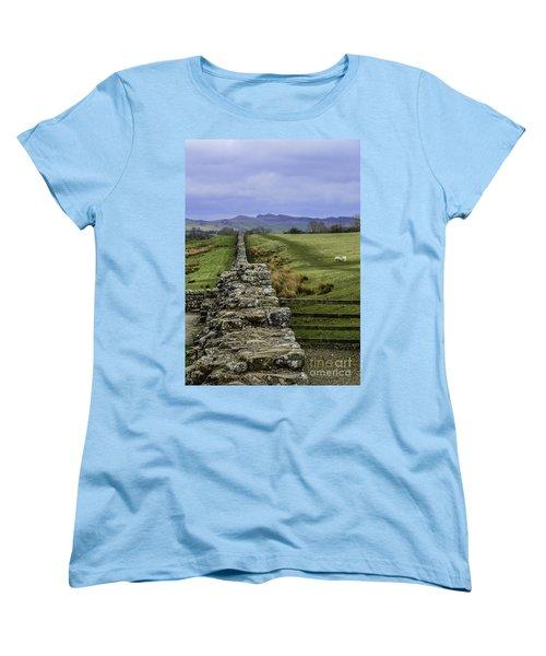 Hadrian's Wall Women's T-Shirt (Standard Cut) by Mary Carol Story