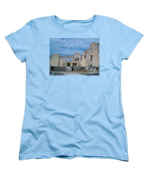 Women's T-Shirt (Standard Cut) featuring the photograph Haha Tonka Castle 1 by Sara  Raber
