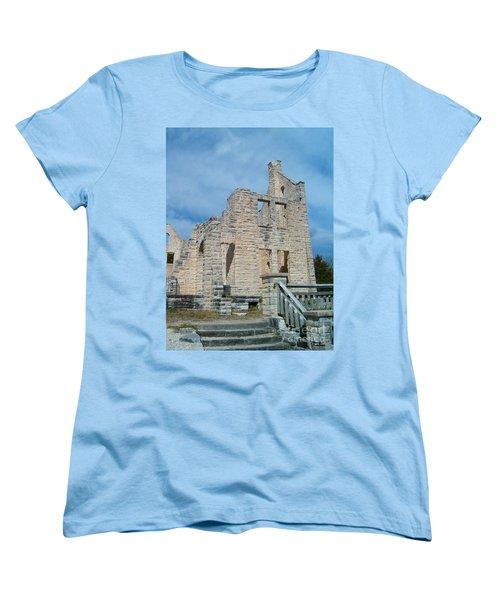 Women's T-Shirt (Standard Cut) featuring the photograph Haha Tonka Castle 2 by Sara  Raber