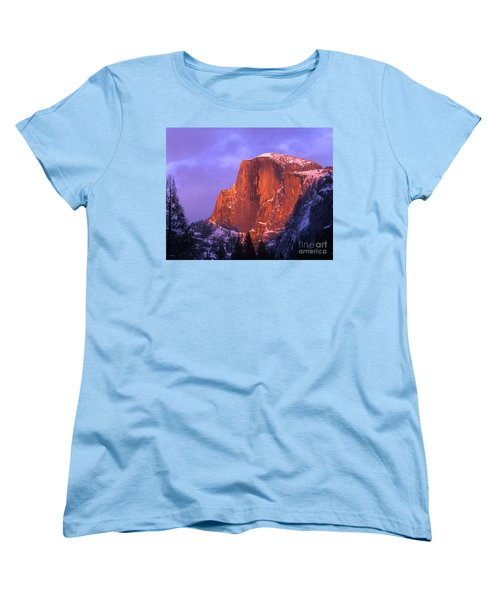 Half Dome Alpen Glow Women's T-Shirt (Standard Cut) by Jim and Emily Bush