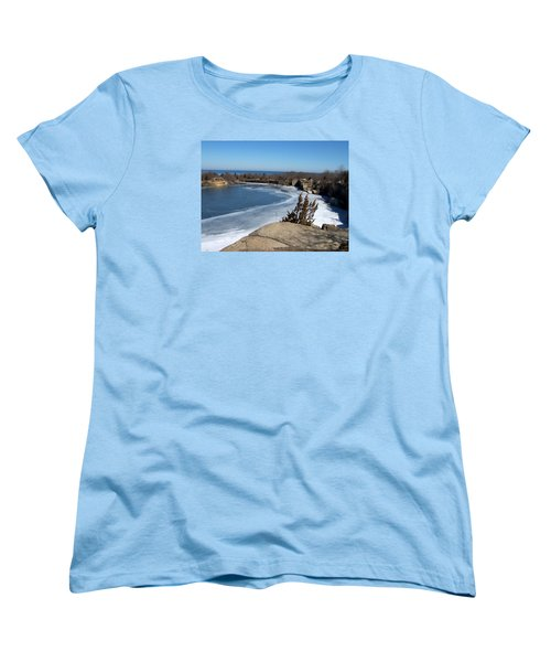 Icy Quarry Women's T-Shirt (Standard Cut) by Catherine Gagne