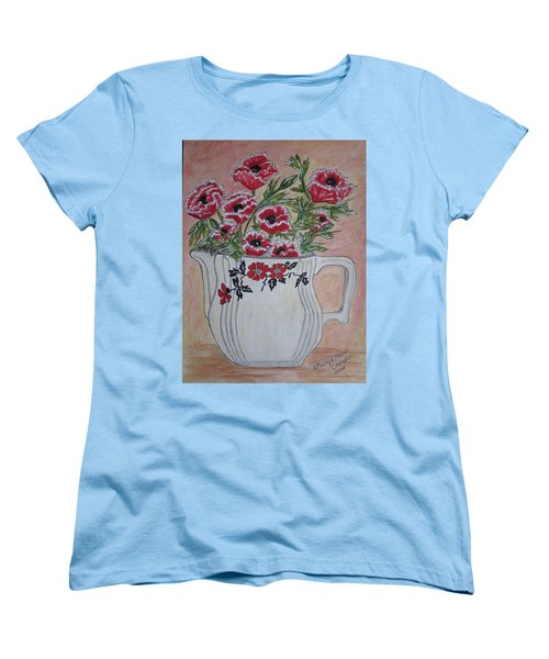 Hall China Red Poppy And Poppies Women's T-Shirt (Standard Cut) by Kathy Marrs Chandler
