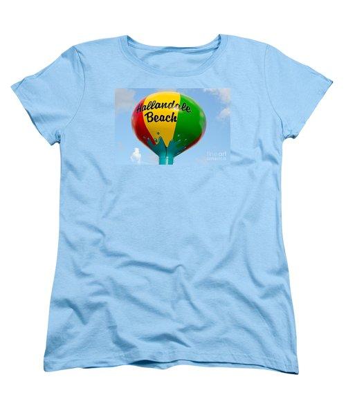 Hallendale Beach Water Tower Women's T-Shirt (Standard Cut) by Les Palenik