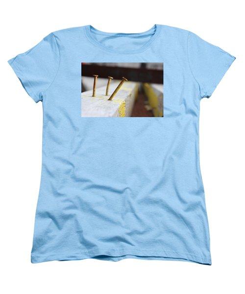 Hammer And Nail Women's T-Shirt (Standard Cut) by Tiffany Erdman