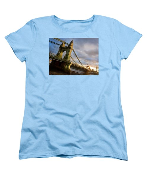 Women's T-Shirt (Standard Cut) featuring the photograph Hammersmith Bridge In London by Peta Thames