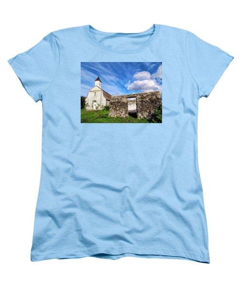 Women's T-Shirt (Standard Cut) featuring the photograph Hana Church 8 by Dawn Eshelman