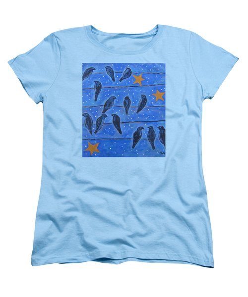 Hanging Out At Night Women's T-Shirt (Standard Cut) by Suzanne Theis