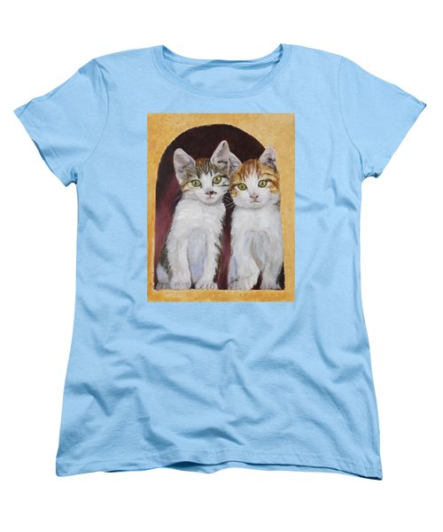 Hanging Out Together Women's T-Shirt (Standard Cut) by Alan Mager