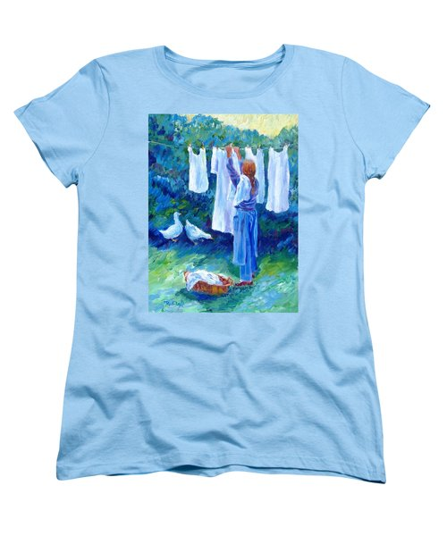 Women's T-Shirt (Standard Cut) featuring the painting Hanging The Whites  by Trudi Doyle