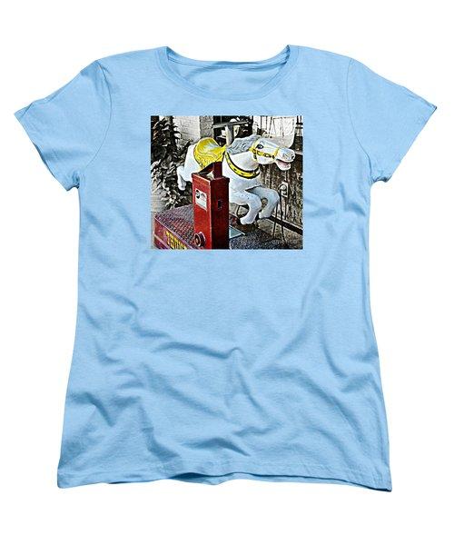 Hannibal Mechanical Riding Horse Women's T-Shirt (Standard Cut) by Luther Fine Art