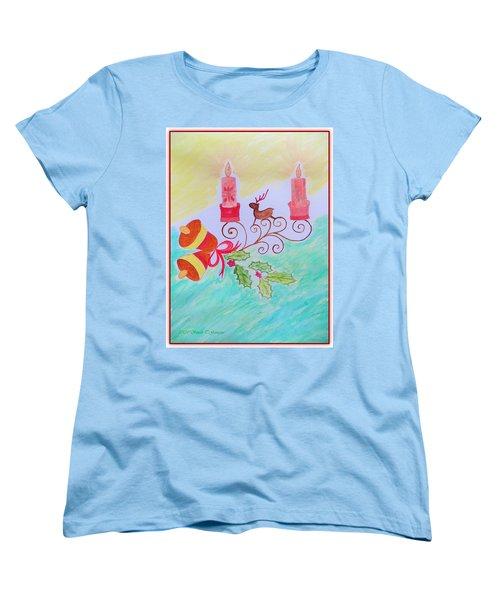 Happy Christmas Women's T-Shirt (Standard Cut) by Sonali Gangane