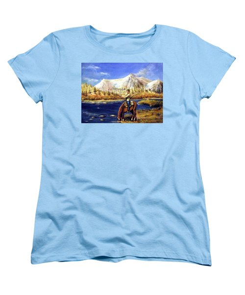 Happy Trails Women's T-Shirt (Standard Cut) by Bernadette Krupa