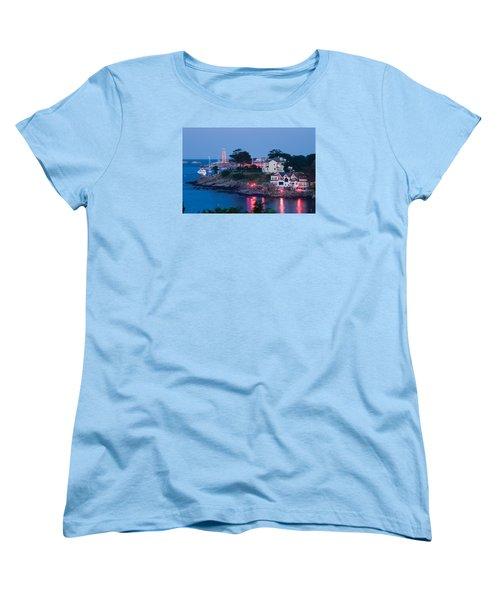Marblehead Harbor Illumination Women's T-Shirt (Standard Cut) by Jeff Folger
