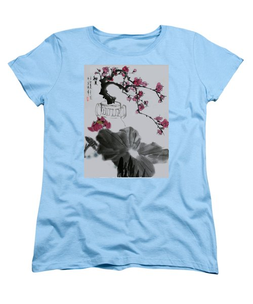 Women's T-Shirt (Standard Cut) featuring the photograph Harmony And Beauty by Yufeng Wang