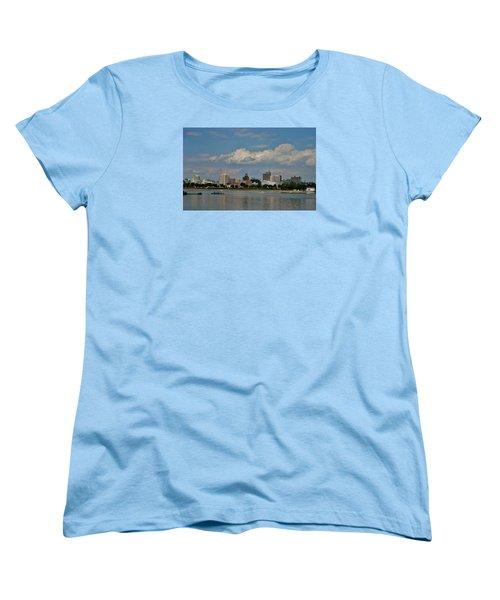 Harrisburg Skyline Women's T-Shirt (Standard Cut) by Ed Sweeney
