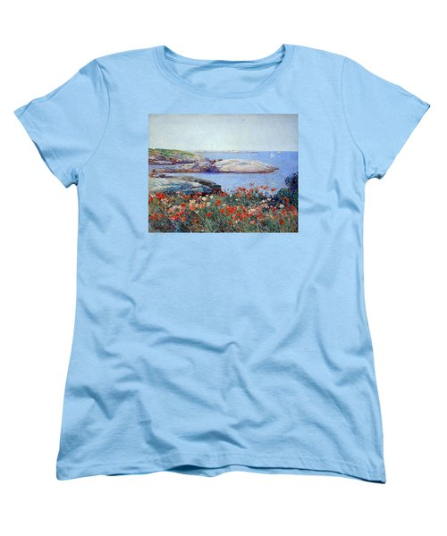 Hassam's Poppies On The Isles Of Shoals Women's T-Shirt (Standard Cut) by Cora Wandel