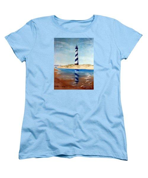 Hatteras Lighthouse Women's T-Shirt (Standard Cut) by Lee Piper