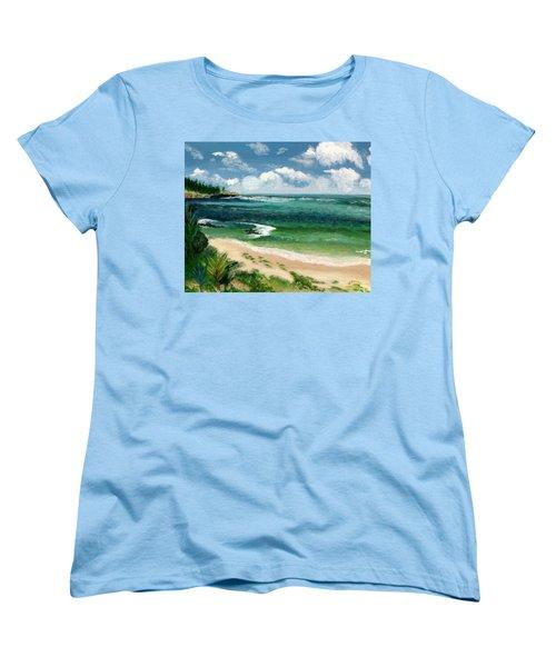 Hawaii Beach Women's T-Shirt (Standard Cut) by Jamie Frier
