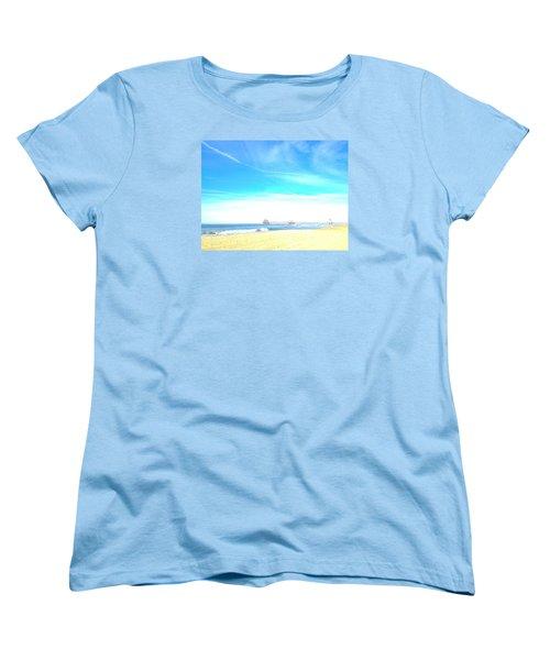 Women's T-Shirt (Standard Cut) featuring the photograph Hb Pier 7 by Margie Amberge