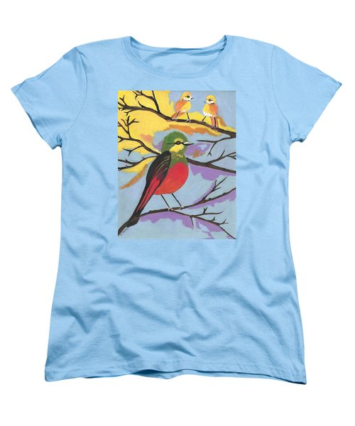 Women's T-Shirt (Standard Cut) featuring the painting He Aint That Tweet by Kathleen Sartoris