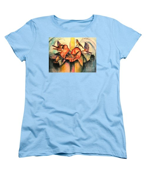 Women's T-Shirt (Standard Cut) featuring the painting He Will Provide by Hazel Holland