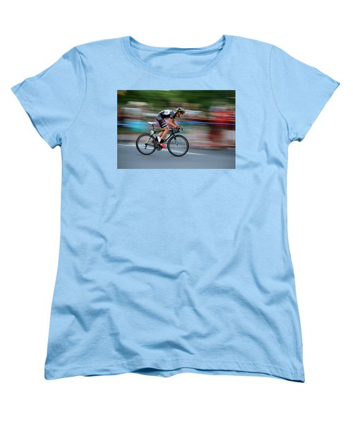 Heading For The Finish Line Women's T-Shirt (Standard Cut) by Kevin Desrosiers