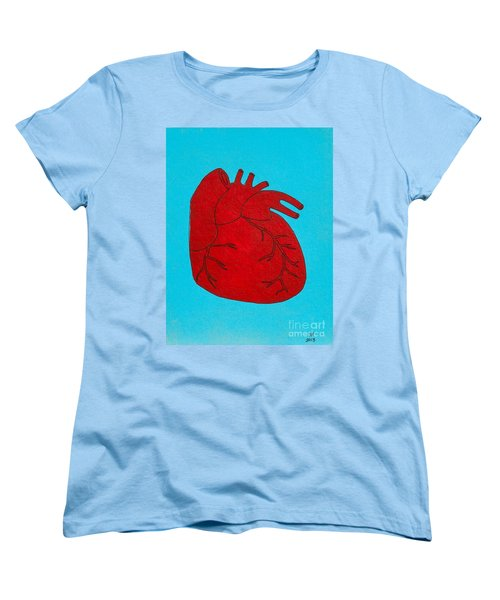 Heart Red Women's T-Shirt (Standard Cut) by Stefanie Forck