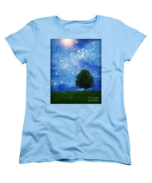 Heaven And Earth Women's T-Shirt (Standard Cut) by Rory Sagner