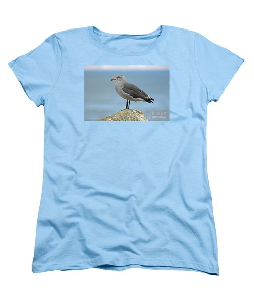 Women's T-Shirt (Standard Cut) featuring the photograph Heermann's Gull In Profile by Susan Wiedmann