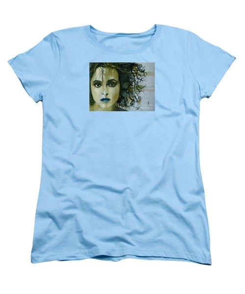 Helena Bonham Carter Women's T-Shirt (Standard Cut) by Paul Lovering
