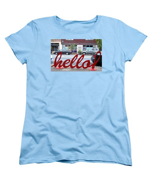 Hello Women's T-Shirt (Standard Cut) by Kelly Awad