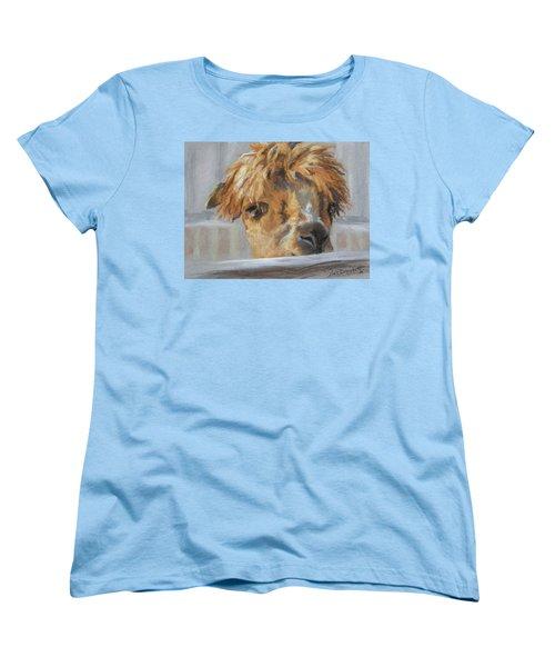 Women's T-Shirt (Standard Cut) featuring the drawing Hello by Lori Brackett