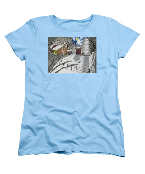 Women's T-Shirt (Standard Cut) featuring the painting Here Comes The Sun by Jeffrey Koss