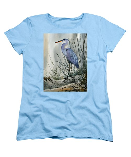 Herons Sheltered Retreat Women's T-Shirt (Standard Cut) by James Williamson