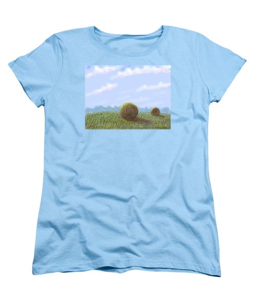 Hey I See Hay Women's T-Shirt (Standard Cut) by Stacy C Bottoms