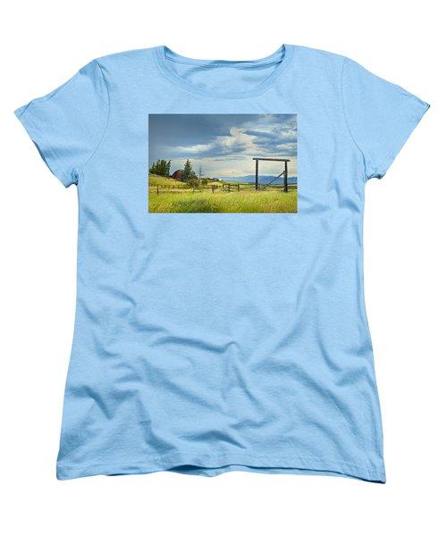 High Country Farm Women's T-Shirt (Standard Cut) by Theresa Tahara