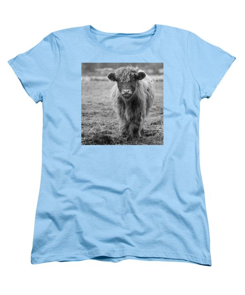 Highland Calf Women's T-Shirt (Standard Cut) by Sonya Lang