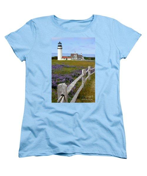 Women's T-Shirt (Standard Cut) featuring the photograph Highland Lighthouse by Paula Guttilla