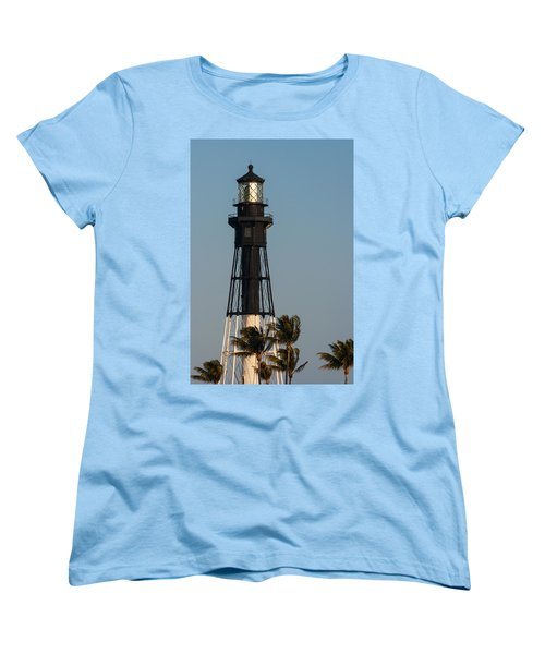 Hillsboro Inlet Lighthouse In The Evening Women's T-Shirt (Standard Cut) by Ed Gleichman