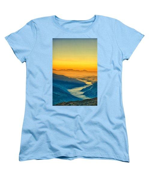 Himalaya In The Morning Light Women's T-Shirt (Standard Cut) by Ulrich Schade