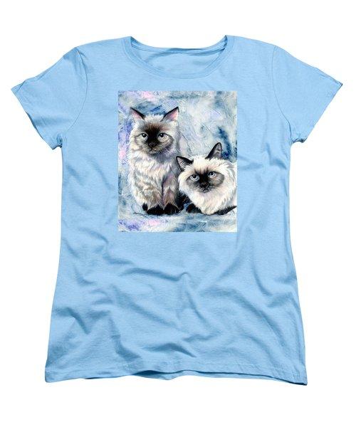 Women's T-Shirt (Standard Cut) featuring the painting Himalayan Duo by Sherry Shipley