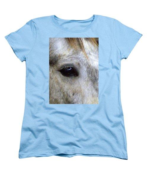 Women's T-Shirt (Standard Cut) featuring the photograph His Spirit Was Stolen by John Glass