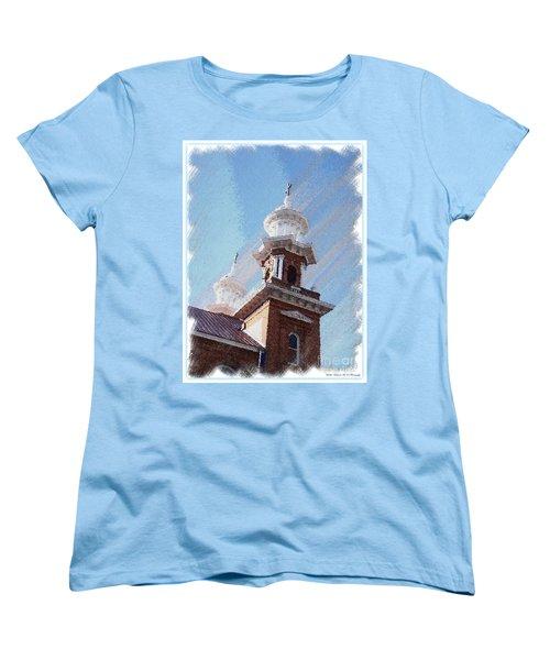 Historic Church Steeples Women's T-Shirt (Standard Cut) by Bobbee Rickard
