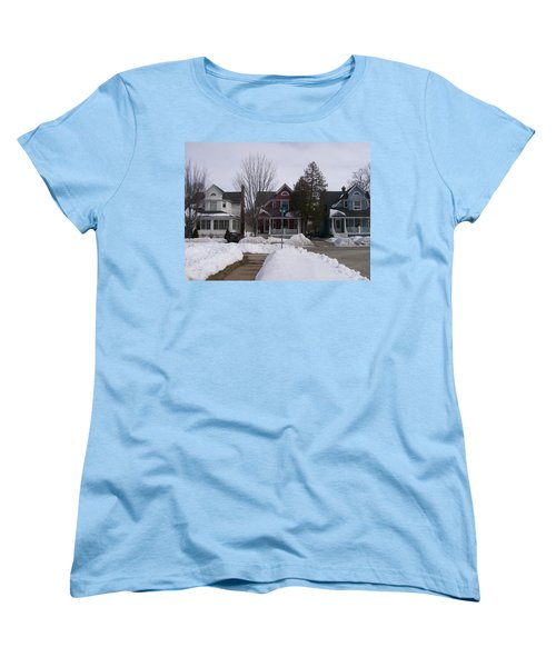 Historic Seventh Street Menominee Women's T-Shirt (Standard Cut) by Jonathon Hansen