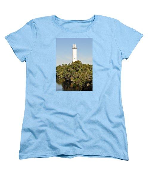Historic Water Tower - Sulphur Springs Florida Women's T-Shirt (Standard Cut) by John Black