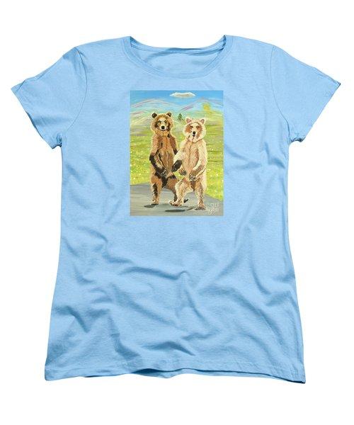 Hoedown On The Tundra Women's T-Shirt (Standard Cut) by Phyllis Kaltenbach