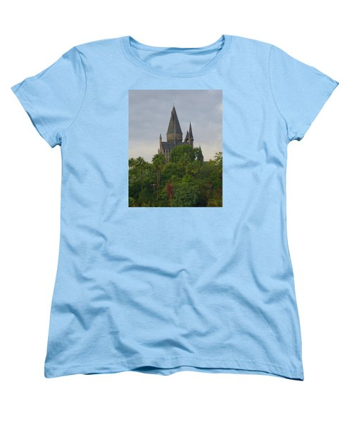 Hogwarts Castle 1 Women's T-Shirt (Standard Cut) by Kathy Long