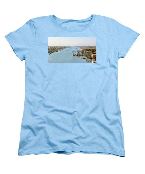 Holden Beach In Nc Women's T-Shirt (Standard Cut) by Cynthia Guinn