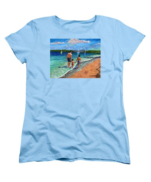 Women's T-Shirt (Standard Cut) featuring the painting Holding Hands by Laura Forde